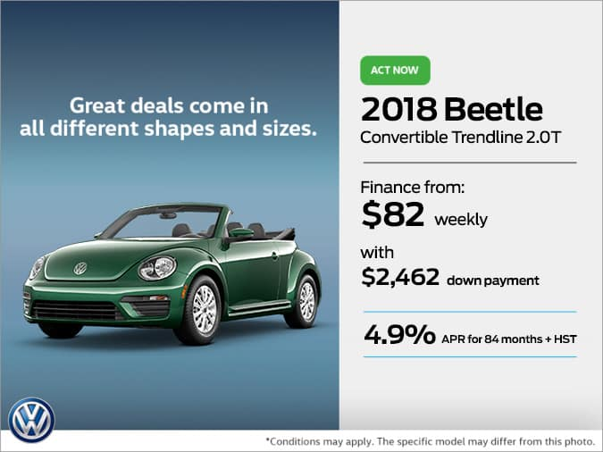 Get the 2018 Beetle Convertible Today!