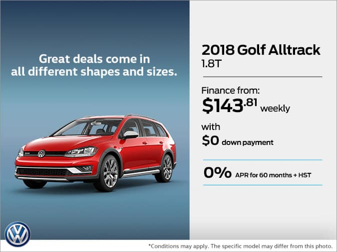 Get the 2018 Golf Alltrack Today!
