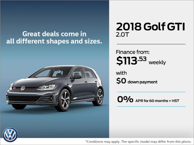 Get the 2018 Golf GTI Today!