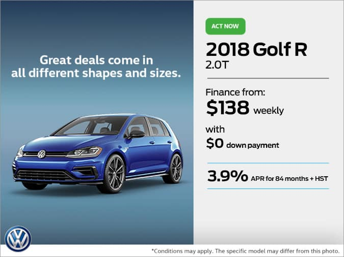 Get the 2018 Golf R Today!
