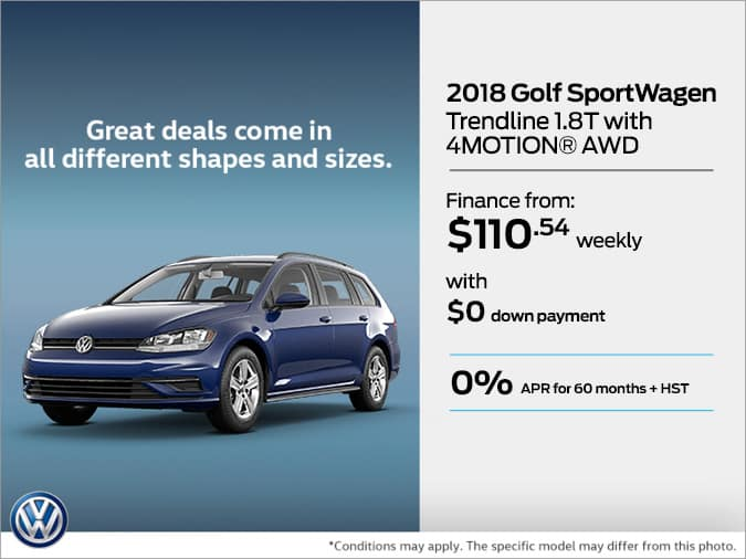 Get the 2018 Golf SportWagen Today!