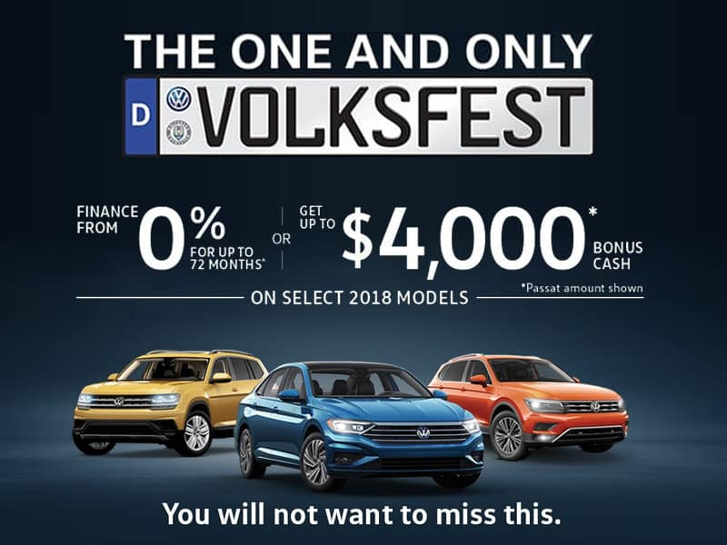 New Volkswagen Sales Event
