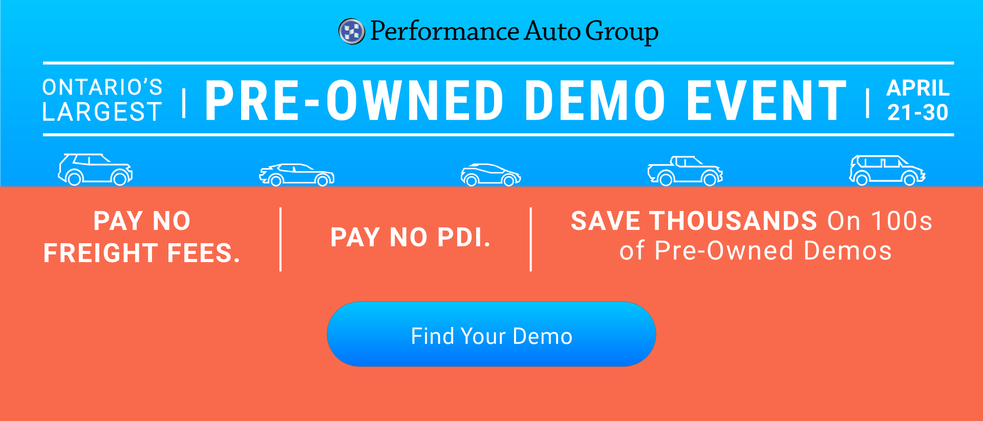 Pre-Owned Demonstrator Vehicles