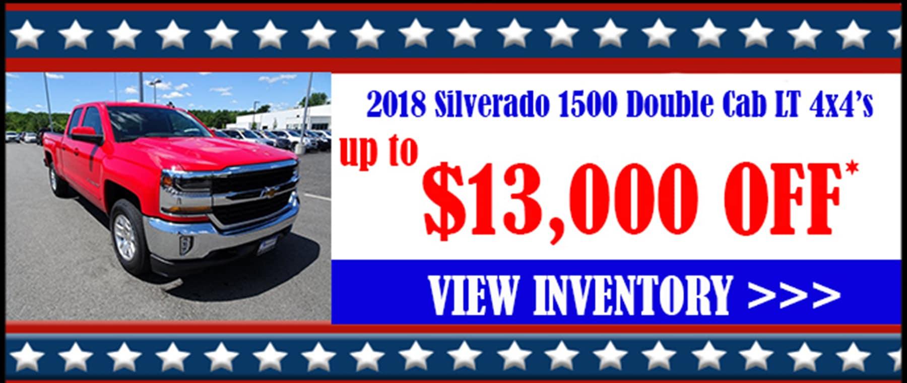 2018 Chevy Silverado 1500 LT Double Cab 4x4