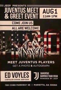 Meet Giorgio Chiellini and Claudio Marchisio at Ed Voyles CDJR on Cobb Parkway in Marietta, Ga