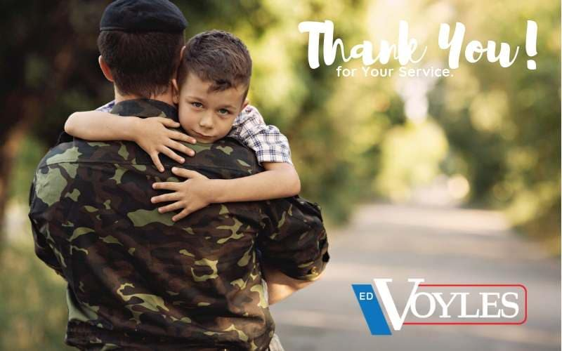 Thank You! Ed Voyles Military Discount