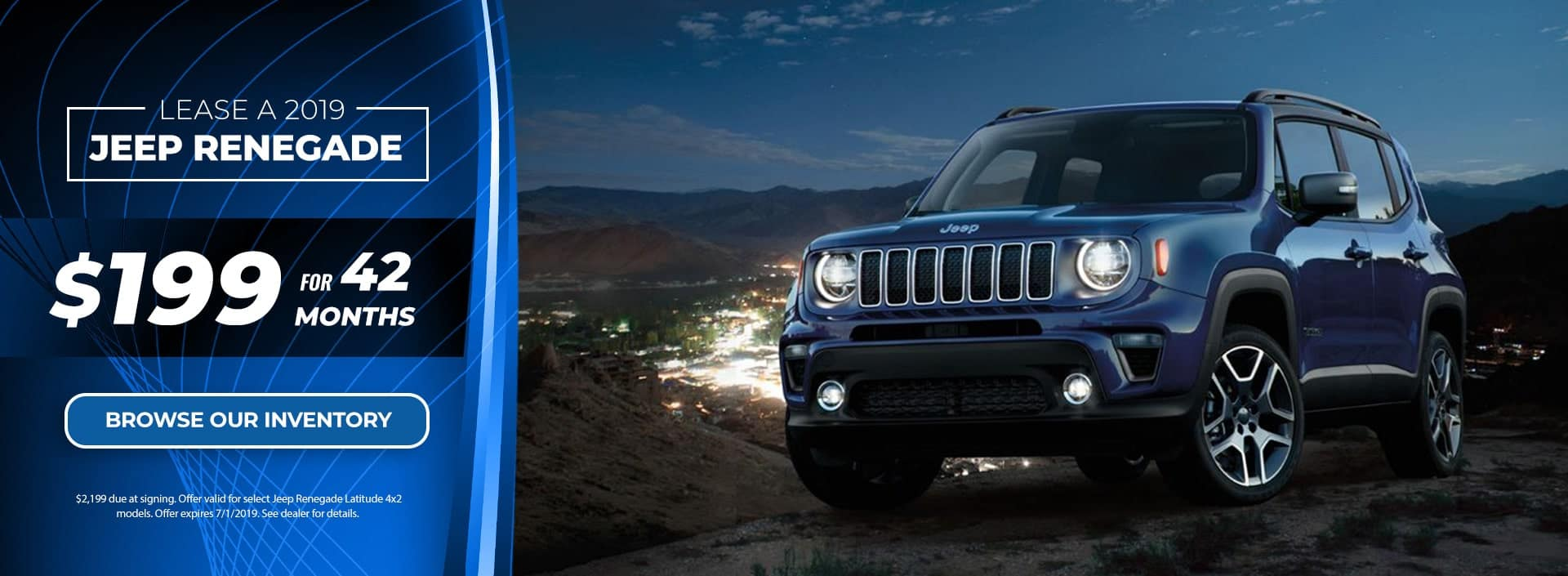 Jeep Renegade June 2019 Offer at Ed Voyles CDJR in Marietta GA