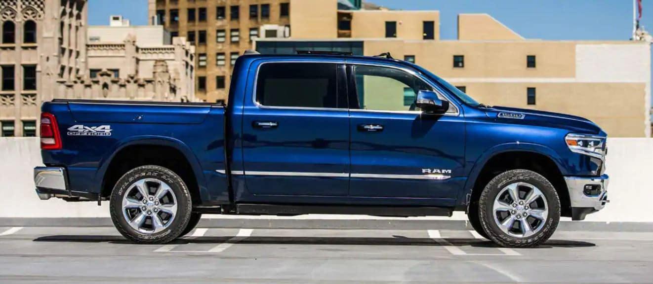 2021 ram 1500 blue exterior