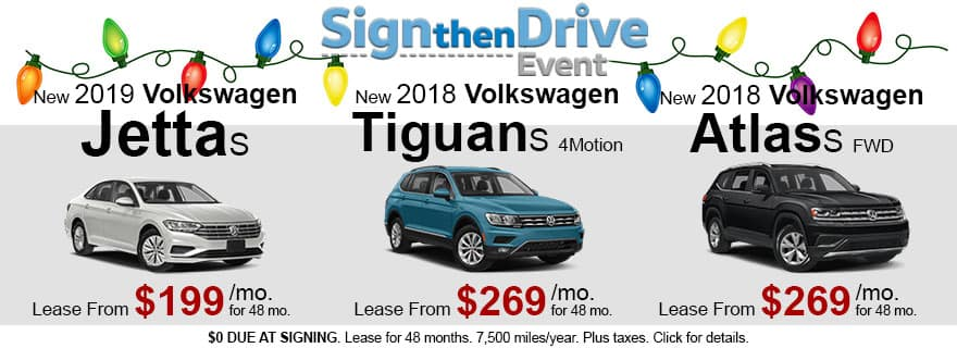 December Sign Then Drive VW Sale