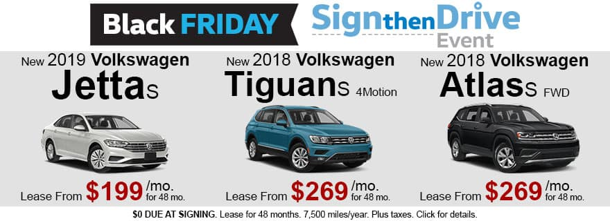 November Black Friday VW Lease Specials - Sign Then Drive