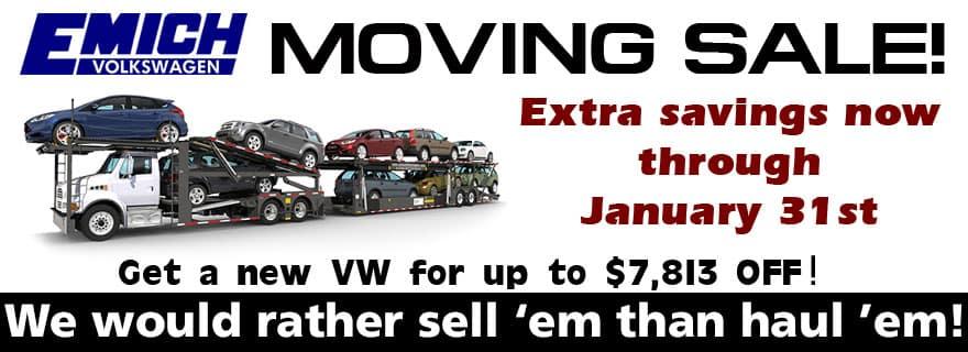 Emich VW Moving Sale
