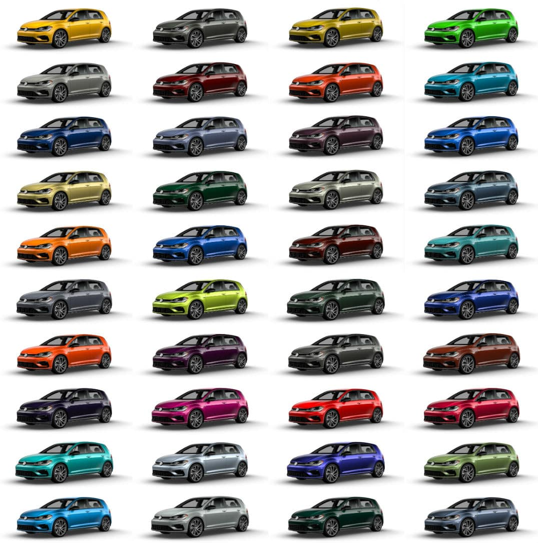 2019 VW Golf R Spektrum Program Color Guide
