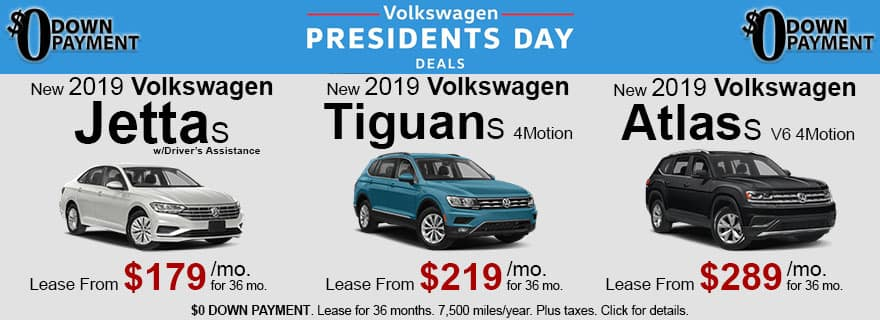 VW President's Day Deals