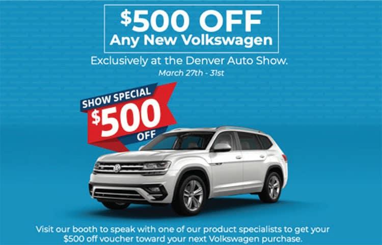 $500 Denver Auto Show VW Bonus