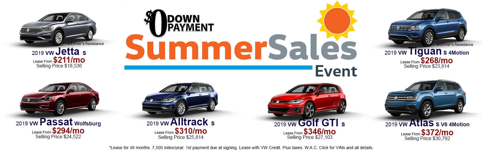 June Summer Sale Lease Specials