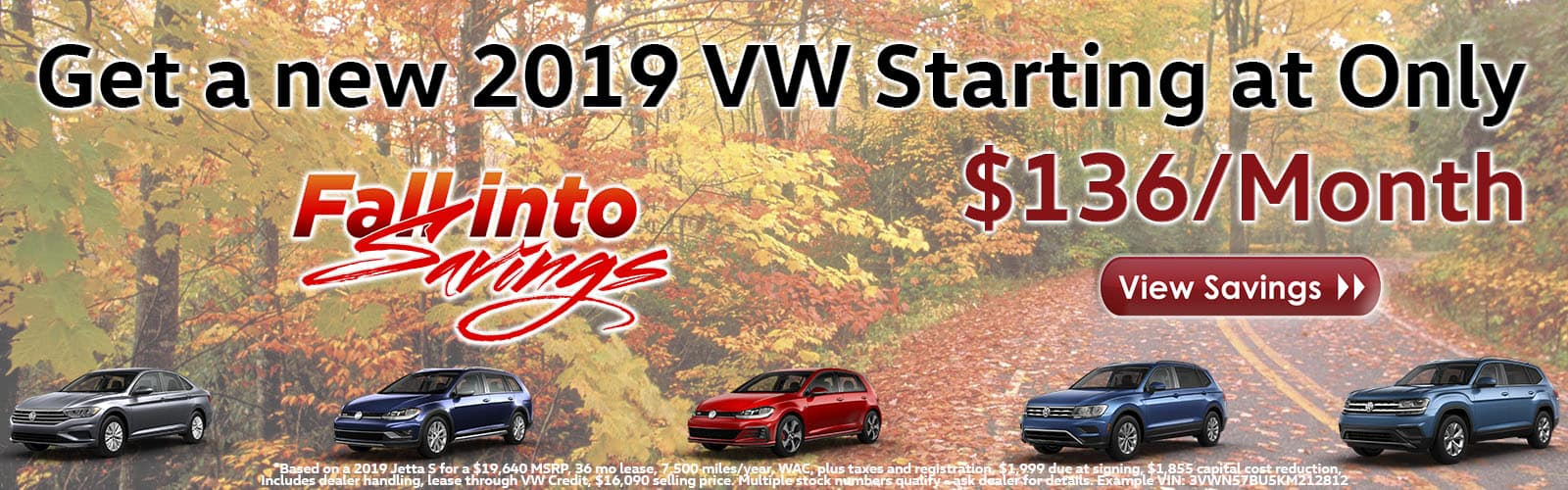 October Fall Into Savings Event