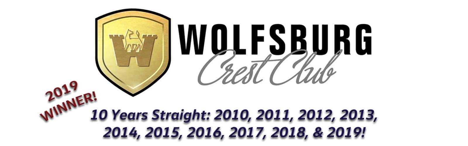 Wolfsburg Crest Club Winner for 2019!
