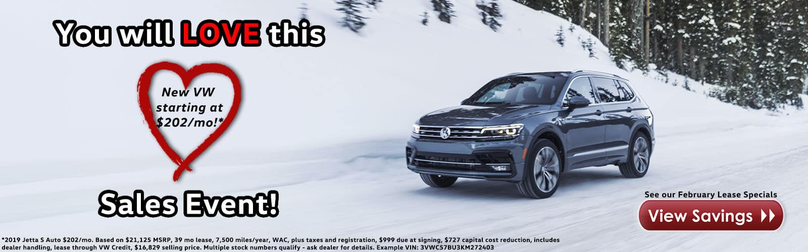 New VW starting at $202/month!