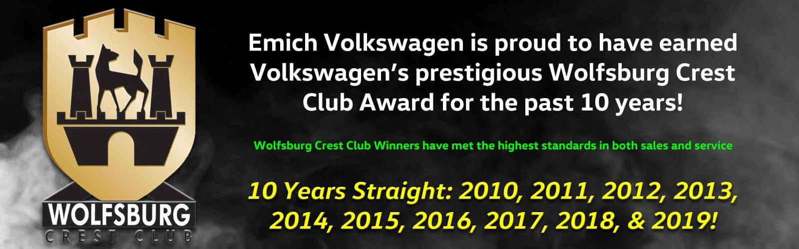 Wolfsburg Crest Club Winner