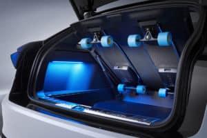 2022 VW ID. Space Vizzion Wagon rear hatch skateboards
