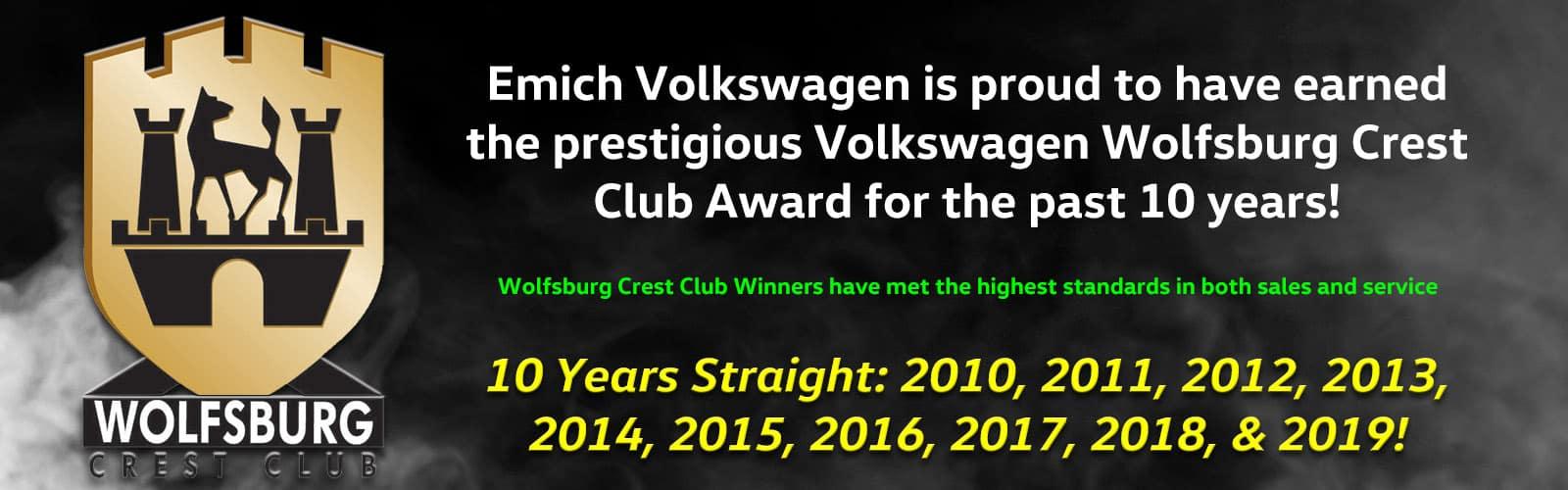 Wolfsburg Crest Club Winner 2020
