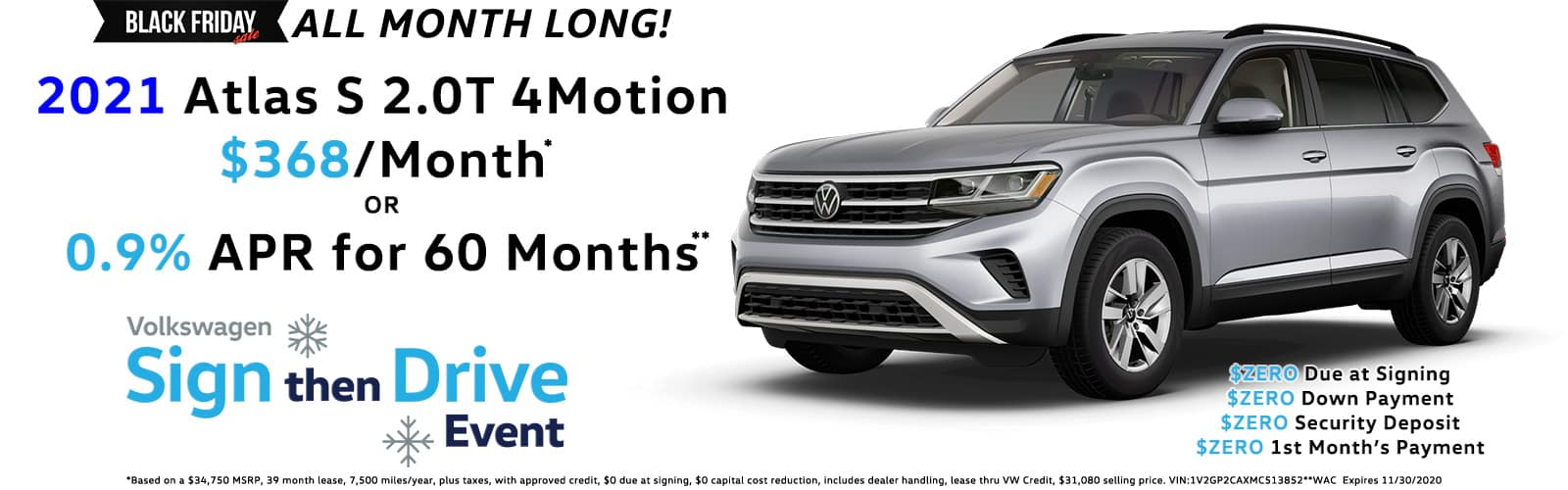 Sign Then Drive Special - 2021 VW Atlas
