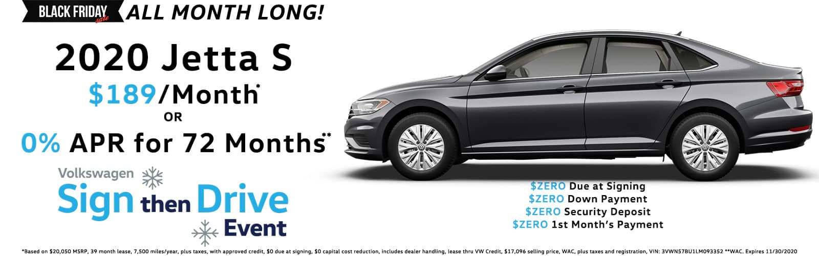 Sign Then Drive Special - 2020 VW Jetta