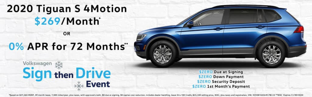 Sign Then Drive Special - 2020 VW Tiguan