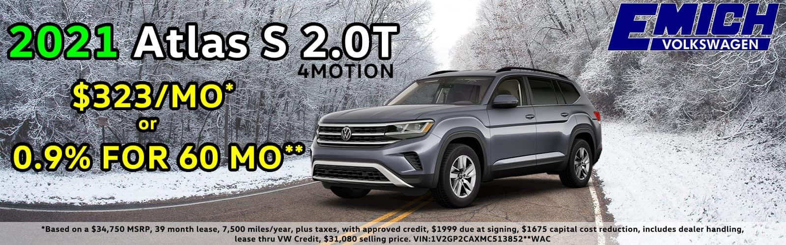 2021 VW Atlas Special Deal