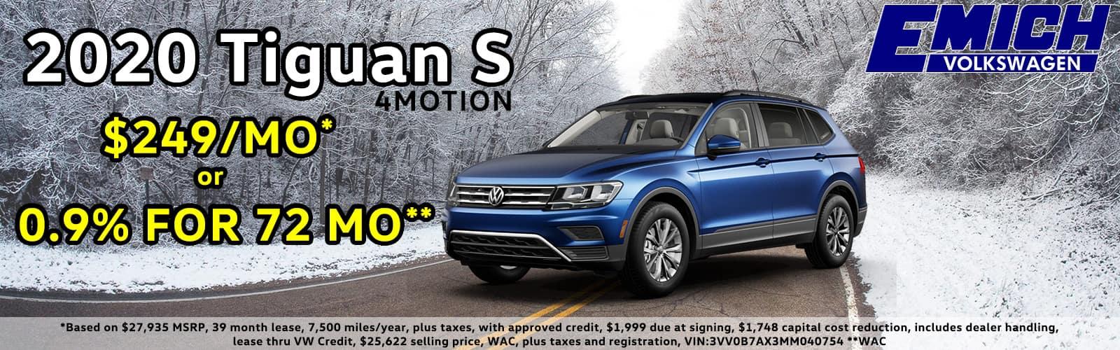 2020 VW Tiguan Special Deal