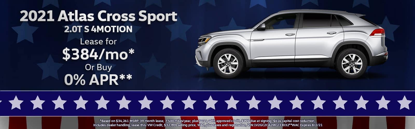 2021 VW Atlas Cross Sport Lease or Purchase Special Denver