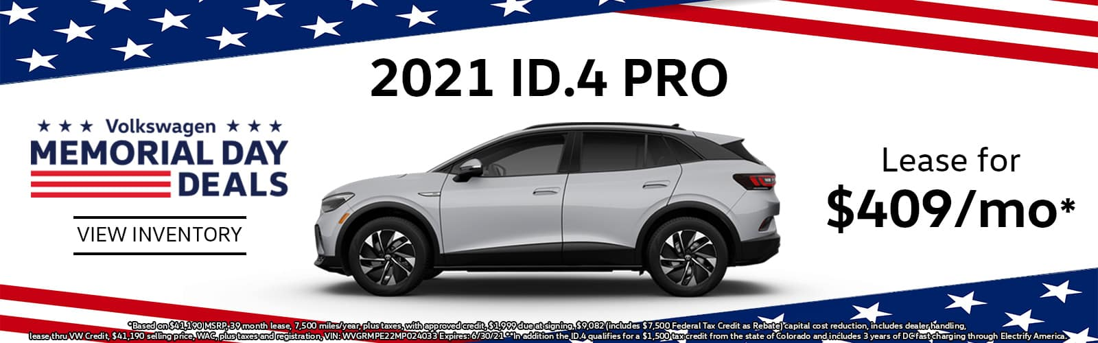 2021 VW ID4 Lease or Buy Special