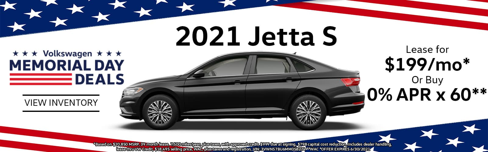 2021 VW Jetta Lease or Buy Special