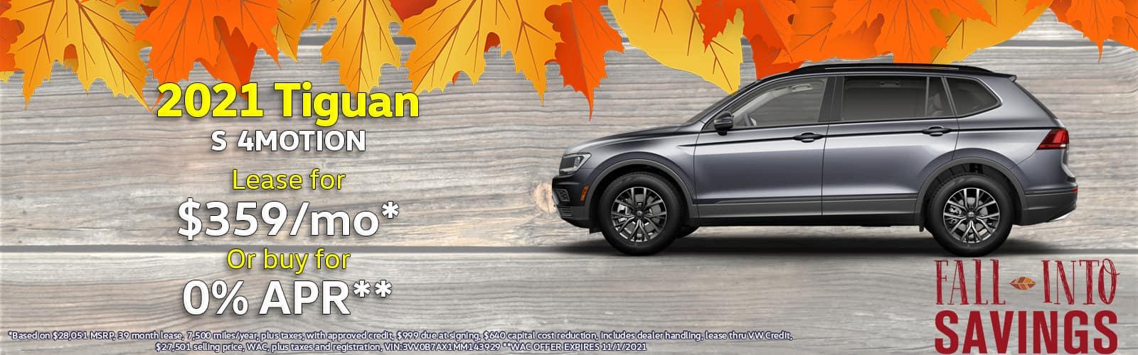 2021 VW Tiguan Lease Special Denver, Colorado