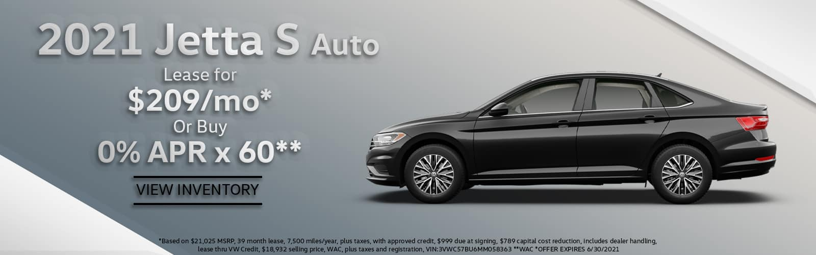 2021 VW Jetta Lease or Purchase Special Denver