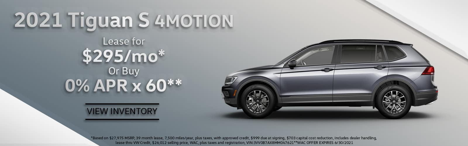 2021 VW Tiguan Lease or Purchase Special Denver