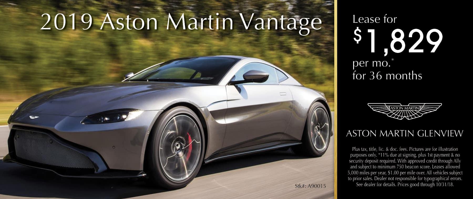 2019 Aston Martin Vantage stk#A90015