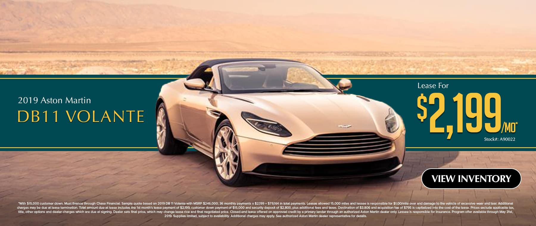 Special Lease Offer Aston Martin