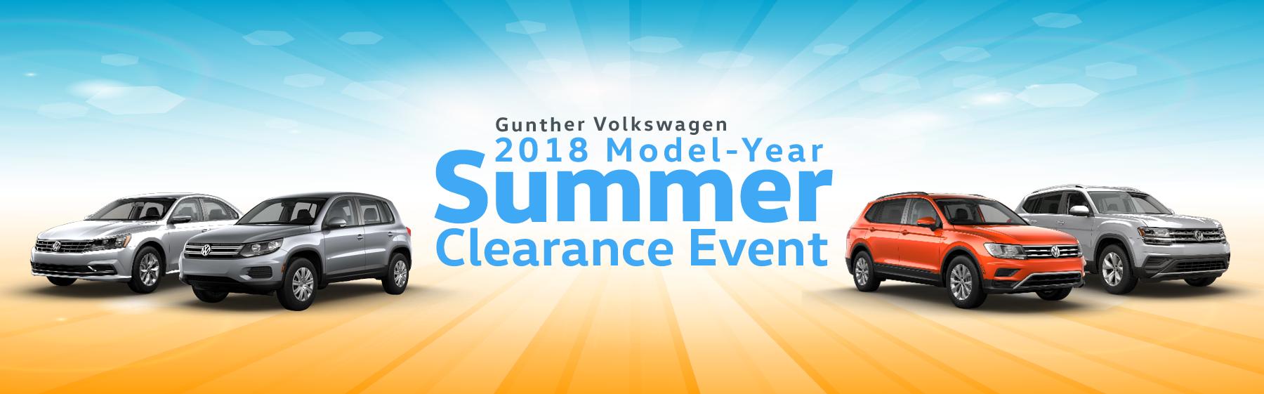 Gunther Volkswagen Summer Clearance Event