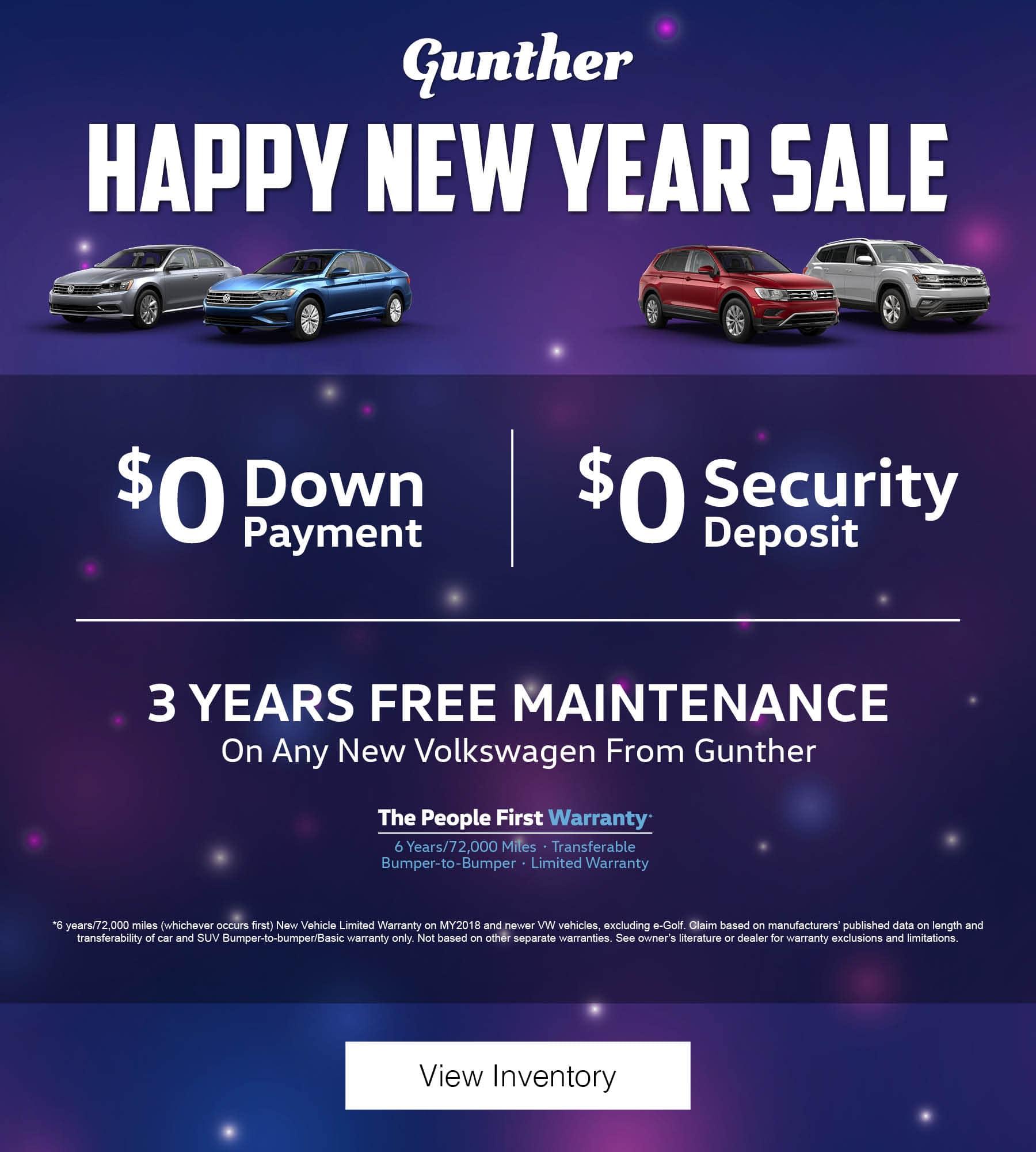 Gunther Happy New Year Sale