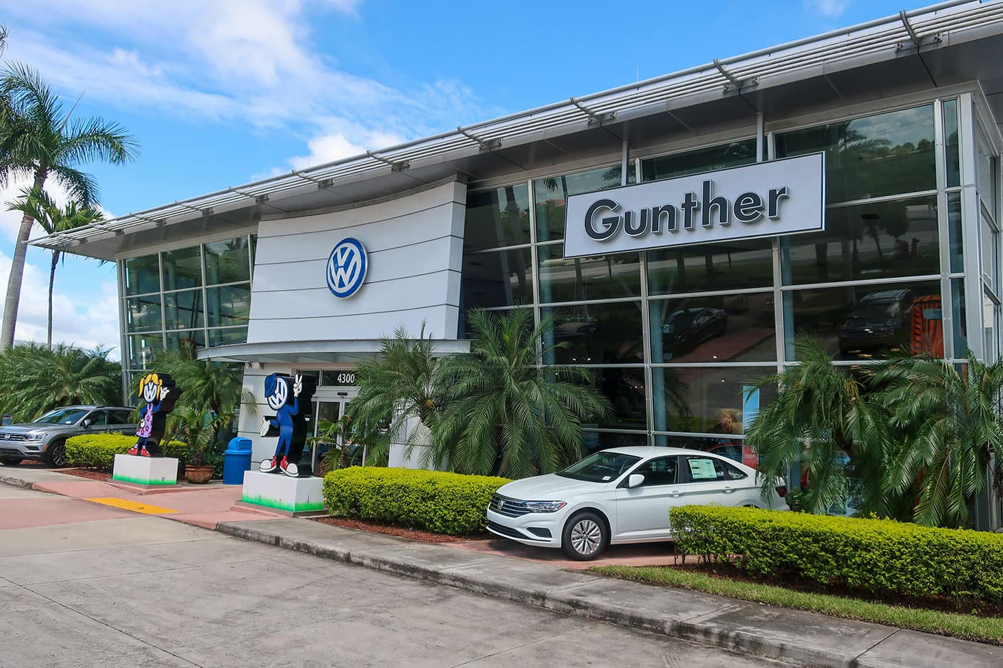 Gunther Volkswagen Coconut Creek exterior.