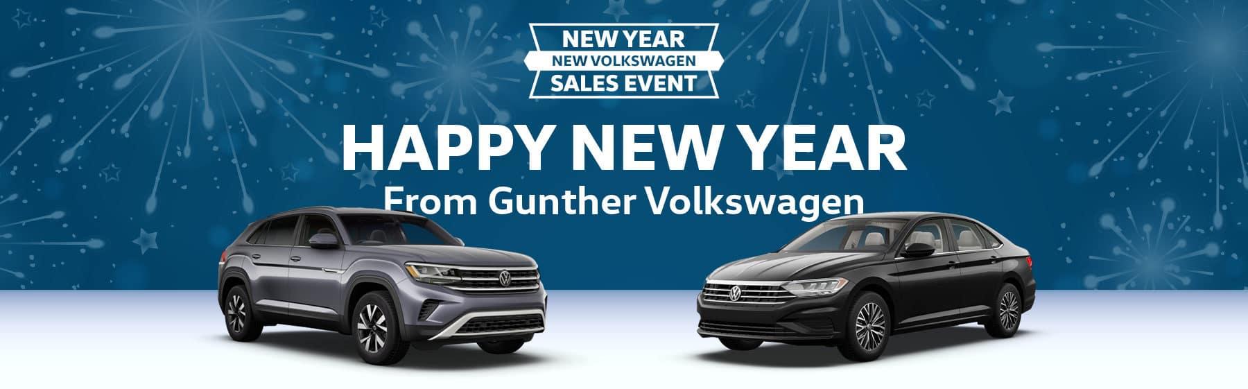 New year, new Volkswagen sales even. Happy new year from Gunther Volkswagen!