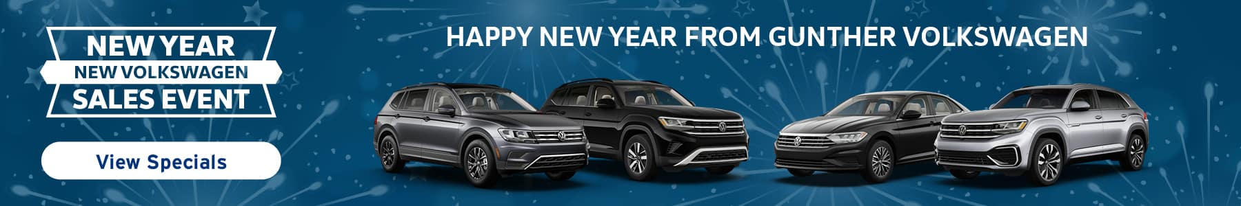 New year, new Volkswagen sales even. Happy new year from Gunther Volkswagen!