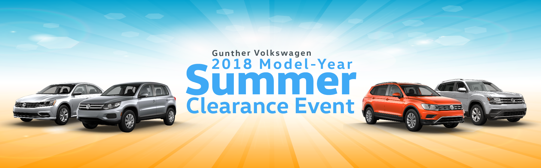 Gunther Volkswagen 2018 Model-Year Summer Clearance Event