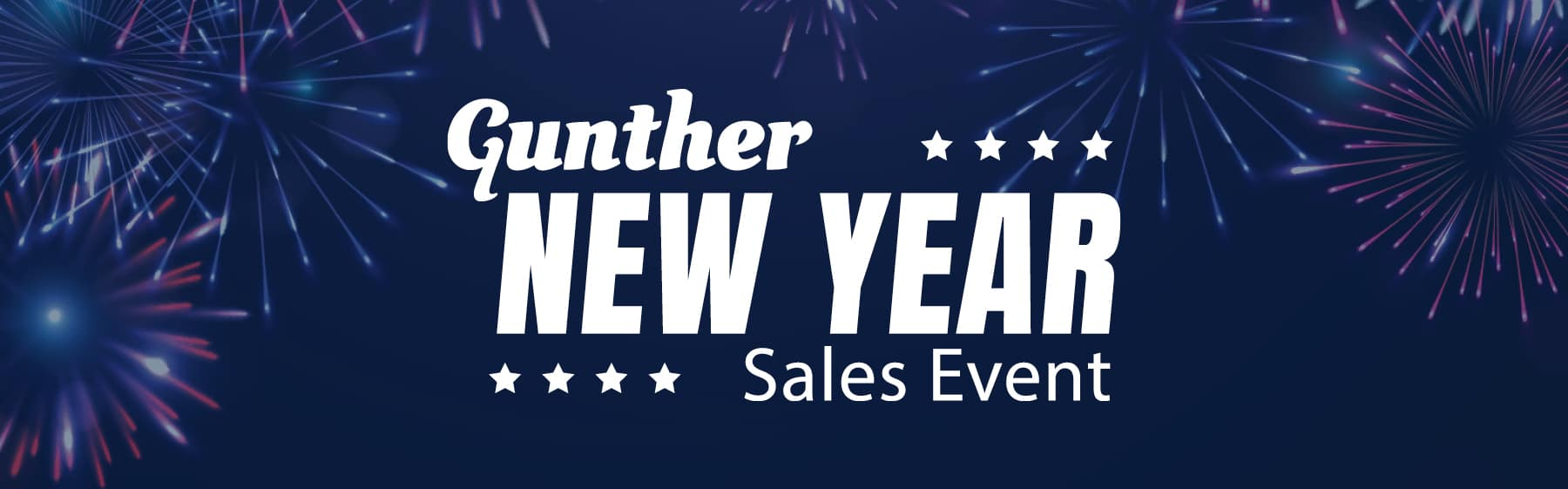 Gunther New Years Sales Event