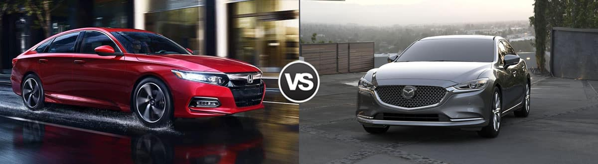 2019 Honda Accord vs 2018 Mazda 6 Sedan