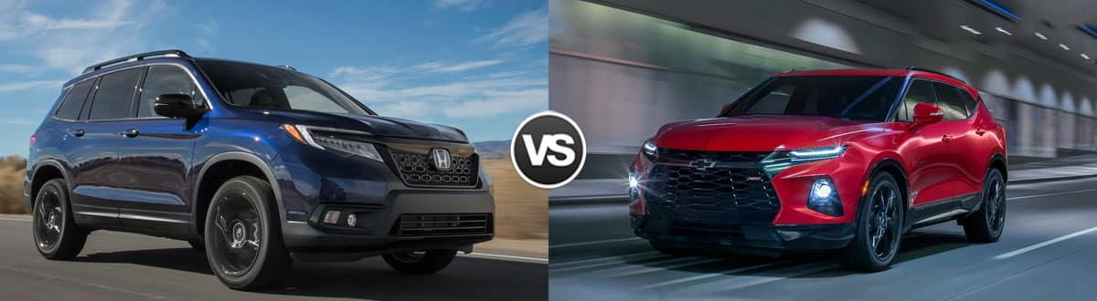 2019 Honda Passport vs 2019 Chevy Blazer