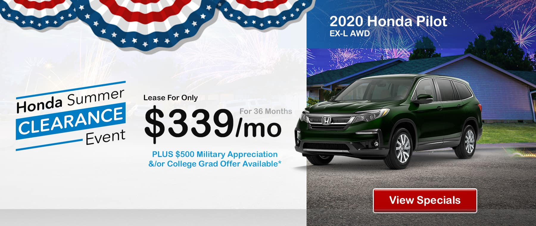 2020 Honda Pilot July Special Offer