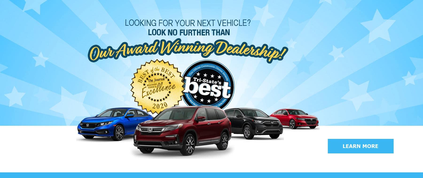 Award Winning Dealership