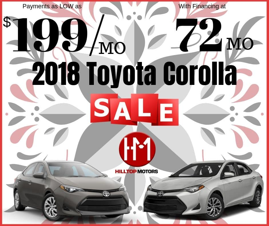 September Corolla Sales!